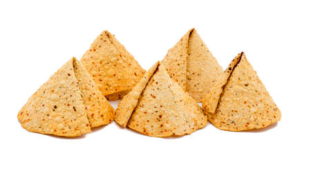 Indian Traditional started Food for lunch and Dinner Papad or Khichiya, made by black gram split and wheat flour Stock Photo
