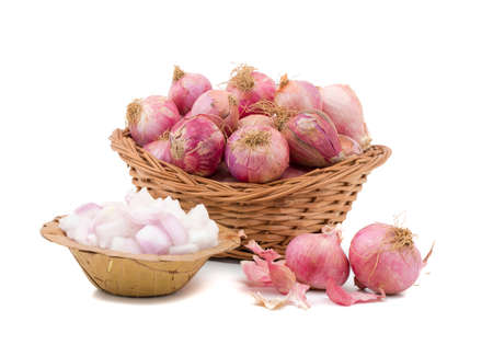 fresh and healthy Raw Red onion Stock Photo