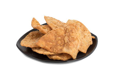 Indian Traditional street salty food Khari Puri, made of Fine Flour, celery and other spices