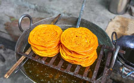 ramzan: indian traditional sweet food Ghewar