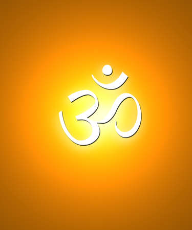 tantra: Spiritual Om Background Stock Photo