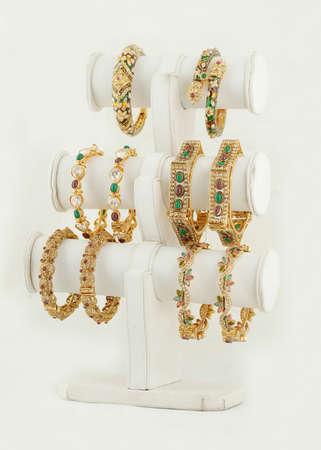 Indian Traditional female Jewelry bangles Stock Photo