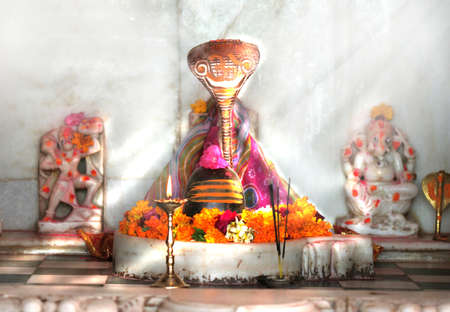 Shivling statue at alpa ghat mataji temple in rajasthan india Stock Photo