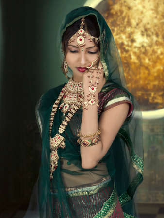 A Beautyful Indian Girl In Bride Casual Stock Photo 101423113