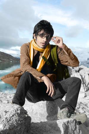 Portrait Of indian male model