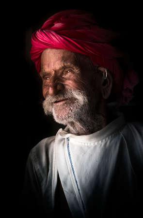 Cheerful Portrait of Rajasthani tribal man