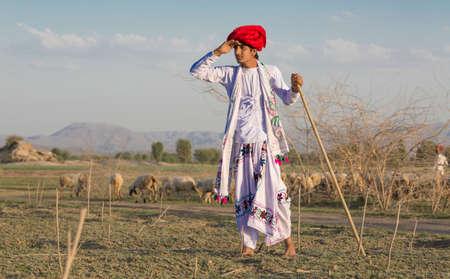 Chico rural indio