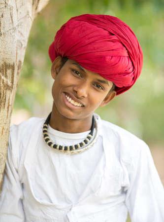 Indian Rural Boy Stock fotó - 101550865