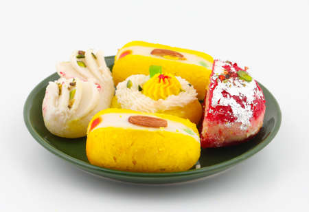 Indian Traditional Bengali Sweet Food Also Know as Bangla Sweet or Bengali Dessert isolated on White Background
