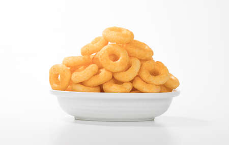 Crunchy Rings a tasty snacks Isolated on white Background