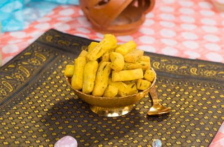 Indian traditional Street food methi vadi