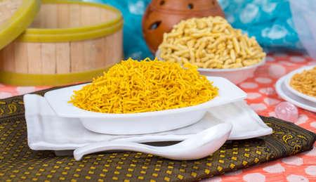 Fried and salty Rajasthani namkeen Food