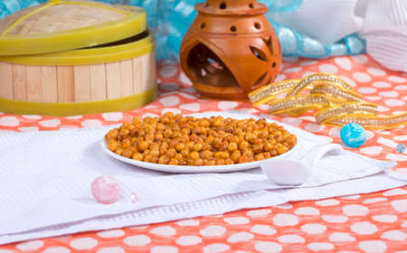 Indian Fried and salty Spicy pea