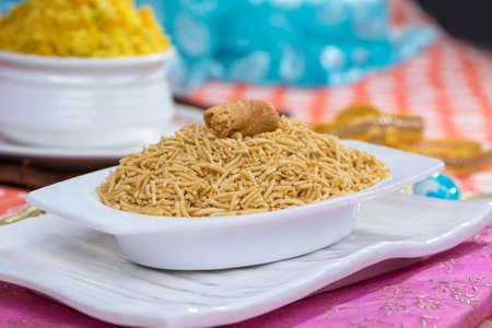 Indian Famous Fried and Salty Food Bikaneri Namkeen