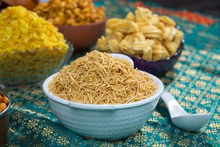 Fried and salty food Bikaneri Namkeen