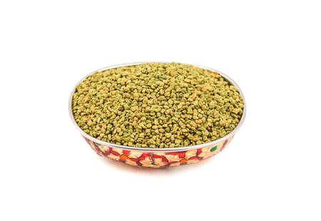 Green Fresh and healthy fenugreek seed or methi Stock Photo