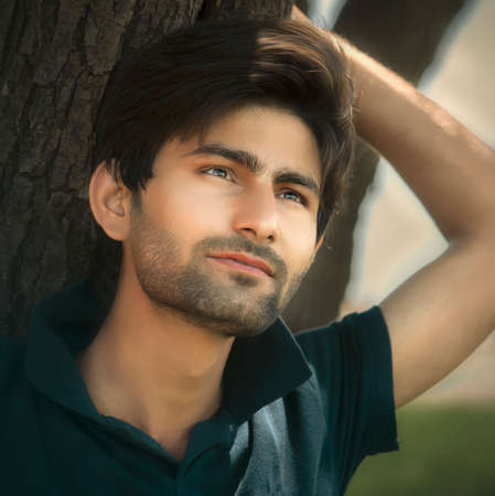Indian young confident male model