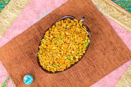 Indyjskie słone i pikantne jedzenie Mix Namkeen Zdjęcie Seryjne