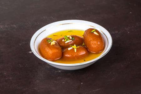 Indian Sweet Food Gulab Jamun Stock Photo