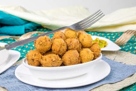 Indian Street Food Dal Vada Banco de Imagens - 128602265