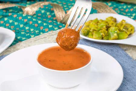 Indian Street Food Dal Vada Banco de Imagens - 128602270