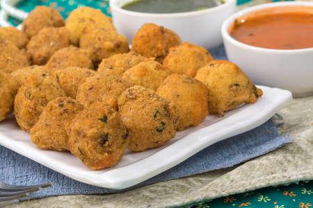 Indian Street Food Dal Vada Banco de Imagens - 128602433