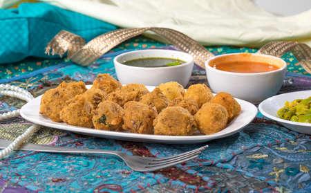 Indian Street Food Dal Vada Banco de Imagens - 128602445