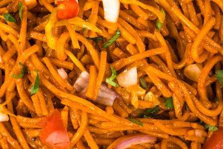 bowl of spicy noodles with vegetables