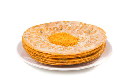 Indian Khakhra is a Traditional Gujarati Snack Also Know As Khakra, Stock Photo