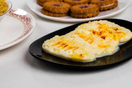 Indyjskie słynne słodkie jedzenie Ras Madhuri Zdjęcie Seryjne