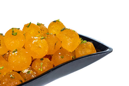 Indian famous sweet food Angoori Pera Stock Photo
