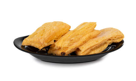Indian Khari or Kharee. Indian famous Puff Pastry Snack, eat with hot tea or coffee