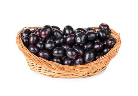 Myrtille indienne ou fruits jamun Banque d'images