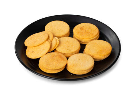 group of home made cookies or biscuits isolate on white background 版權商用圖片
