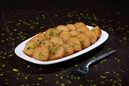 Indian Traditional Dessert Gulab Jamun 版權商用圖片