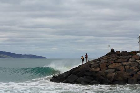 crashing: waves crashing