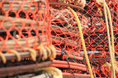 close up crab and lobster traps