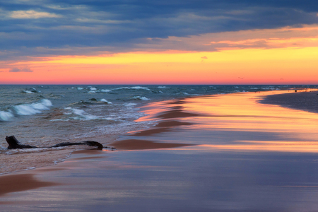 ludington: Stormy Sunset on Lake Michigan - Ludington Michigan