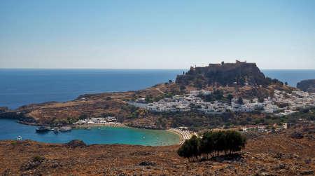 lindos: Lindos view, Rodes, Greece