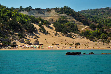 tsampika: Tsampika beach, Rodes, Greece
