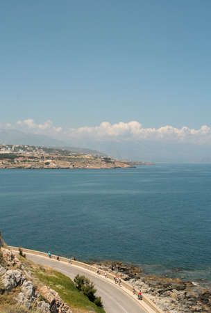 fortezza: Nice view from Rethymno, Crete, Greece Editorial