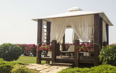 Balinese bed in luxury hotel in Turkey