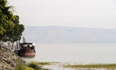 Israel - Sea of Galilee - little fisherman boat
