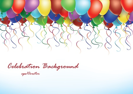holiday celebration: Party balloons vector illustration