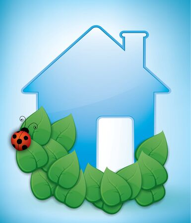 ecological house illustration Vector