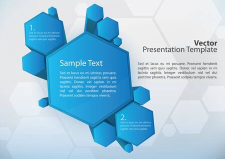 3d presentation elements with space for text