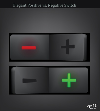 positivism: negative and positive pole switch -vector illustration