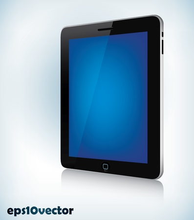 palmtop: Photorealistic vector illustration of a tablet device in perspective