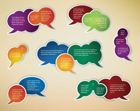 babble: collection of colored speech bubbles