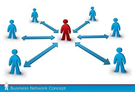 Ilustración de la conexión personas